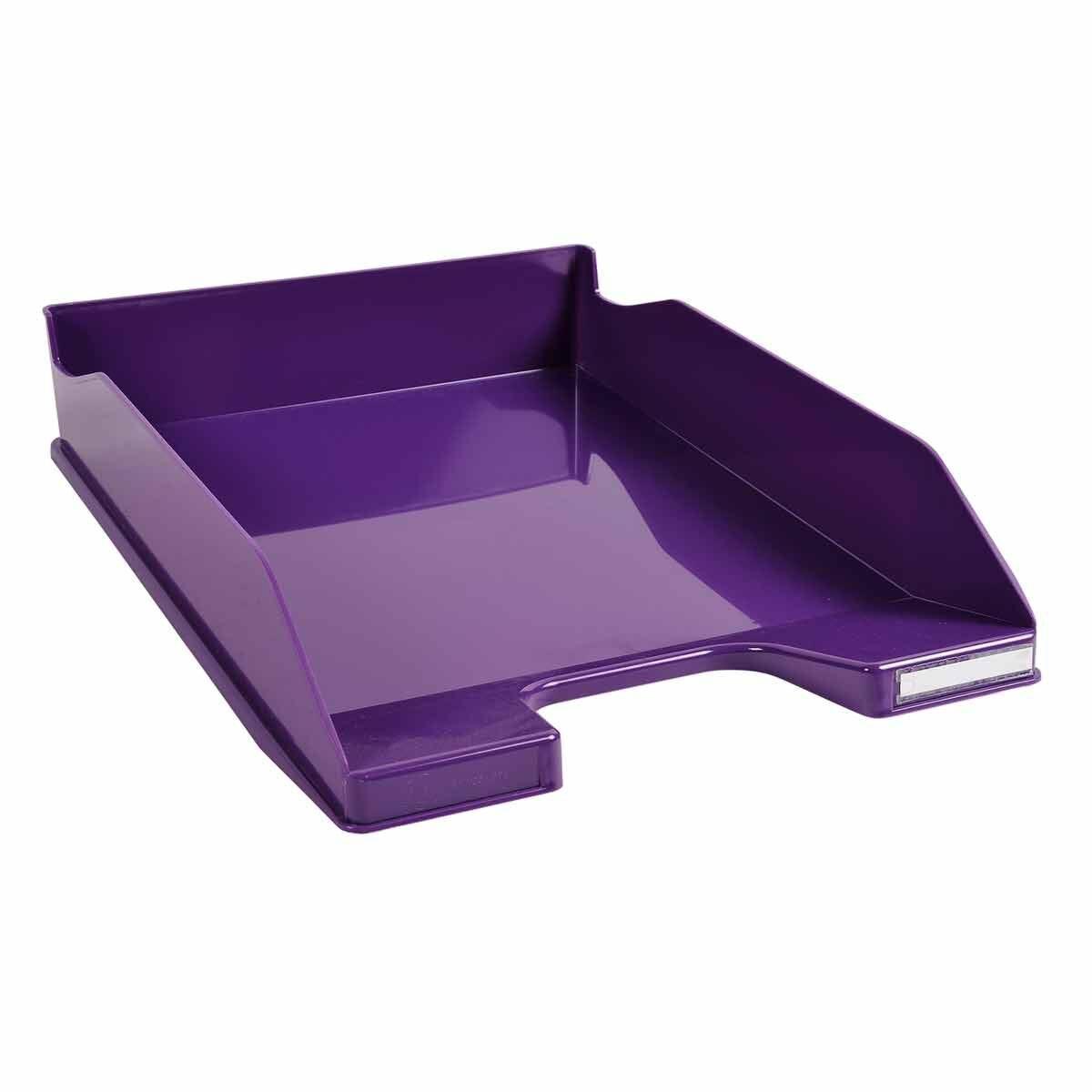 Exacompta Office Letter Tray Midi Combo Pack of 6 Gloss Purple