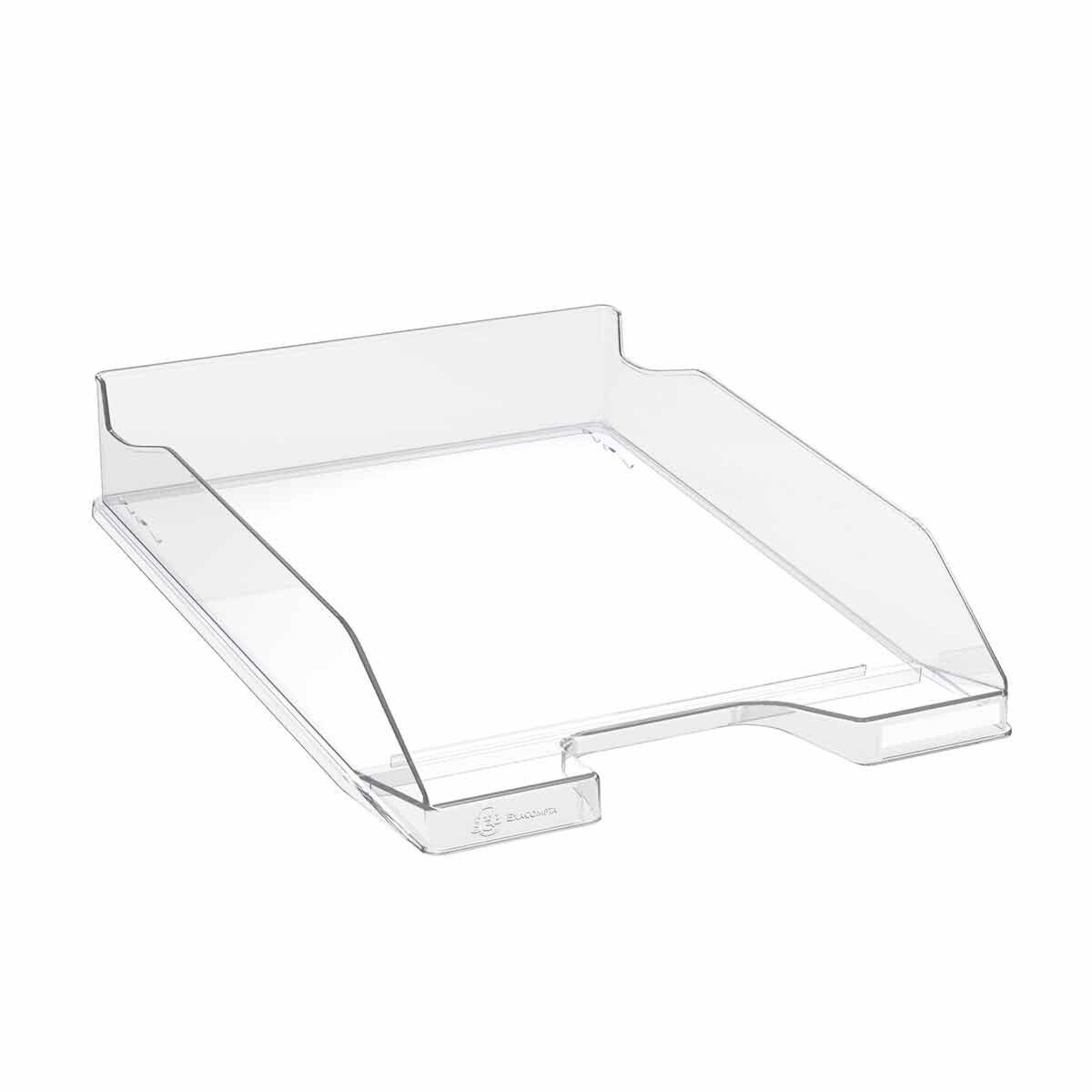 Exacompta Office Letter Tray Midi Combo Pack of 6 Gloss Clear