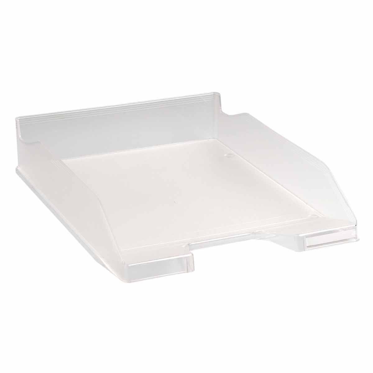 Exacompta Office Letter Tray Midi Combo Pack of 6 Translucent Crystal Clear