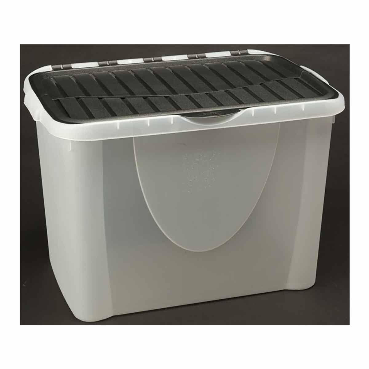 Tontarelli Flip Lid Plastic Storage Box 60 Litres Pack of 2