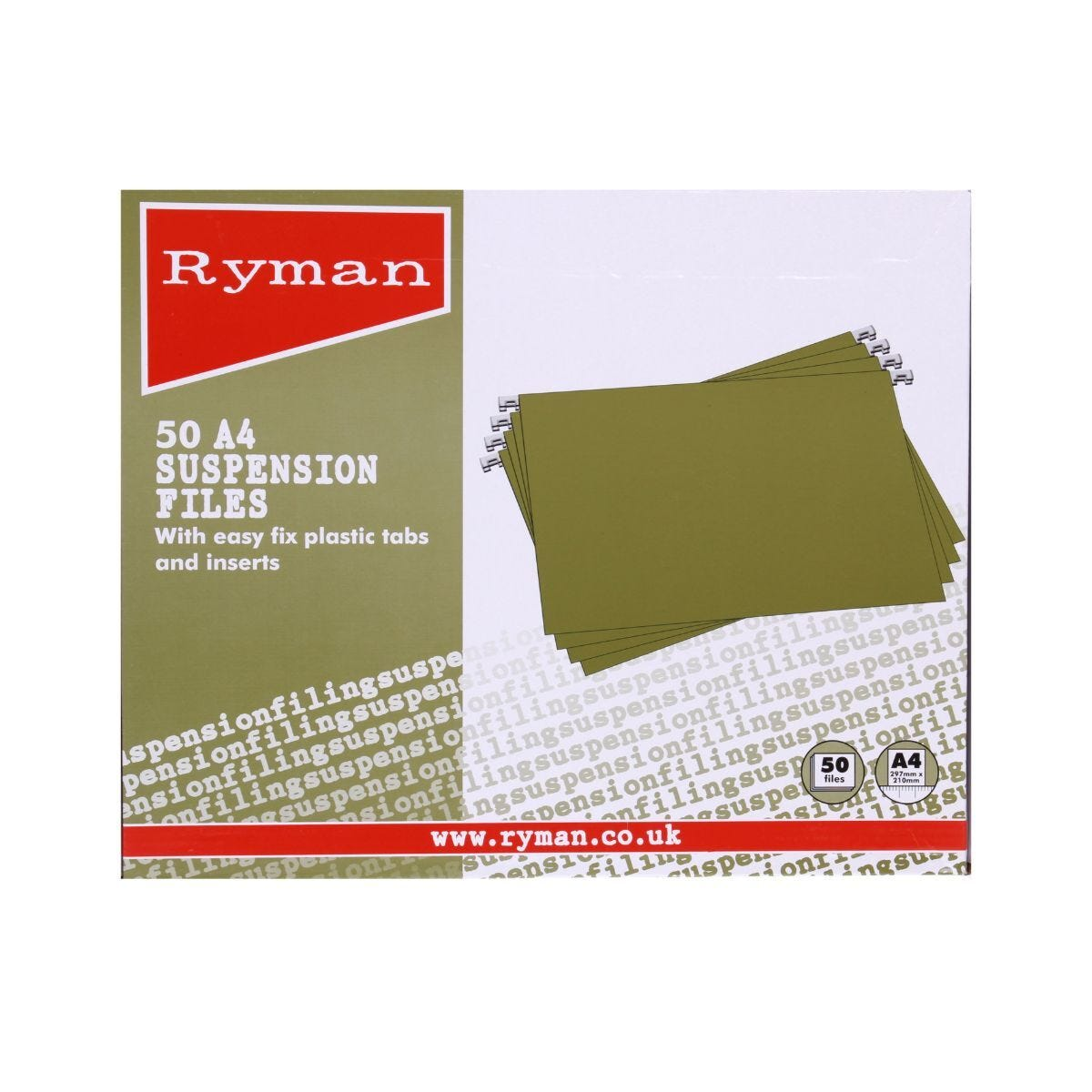 Ryman Suspension Files A4 Pack of 50