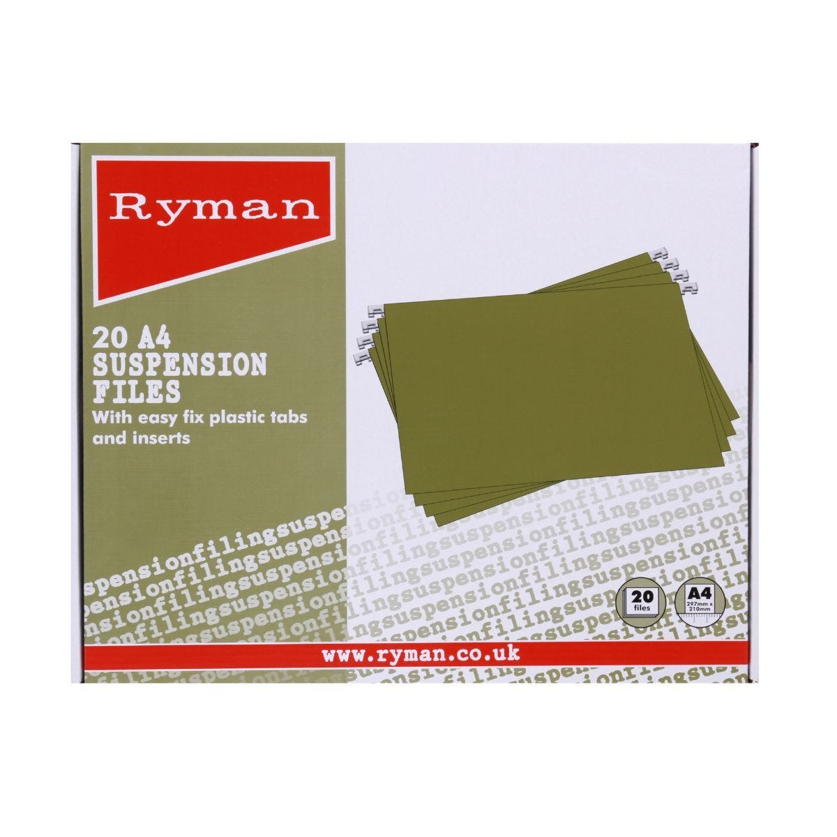 Ryman Suspension Files A4 Pack of 20