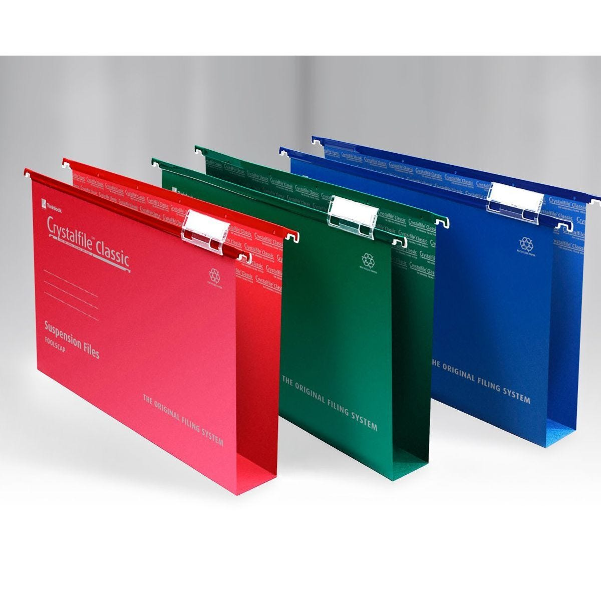 Rexel Crystalfile Classic Foolscap Suspension File 50mm Pack of 50 Green