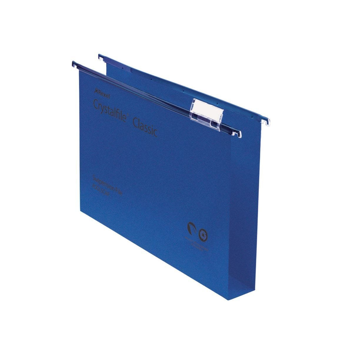 Rexel Crystalfile Classic Foolscap Suspension File 30mm Pack of 50 Blue