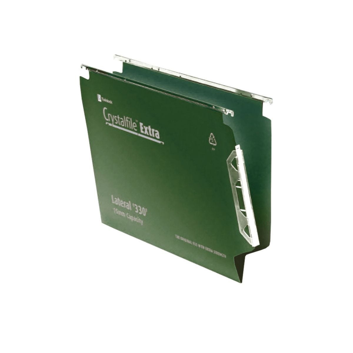 Rexel Crystalfile Extra 330 Lateral Suspension File 15mm Pack of 25