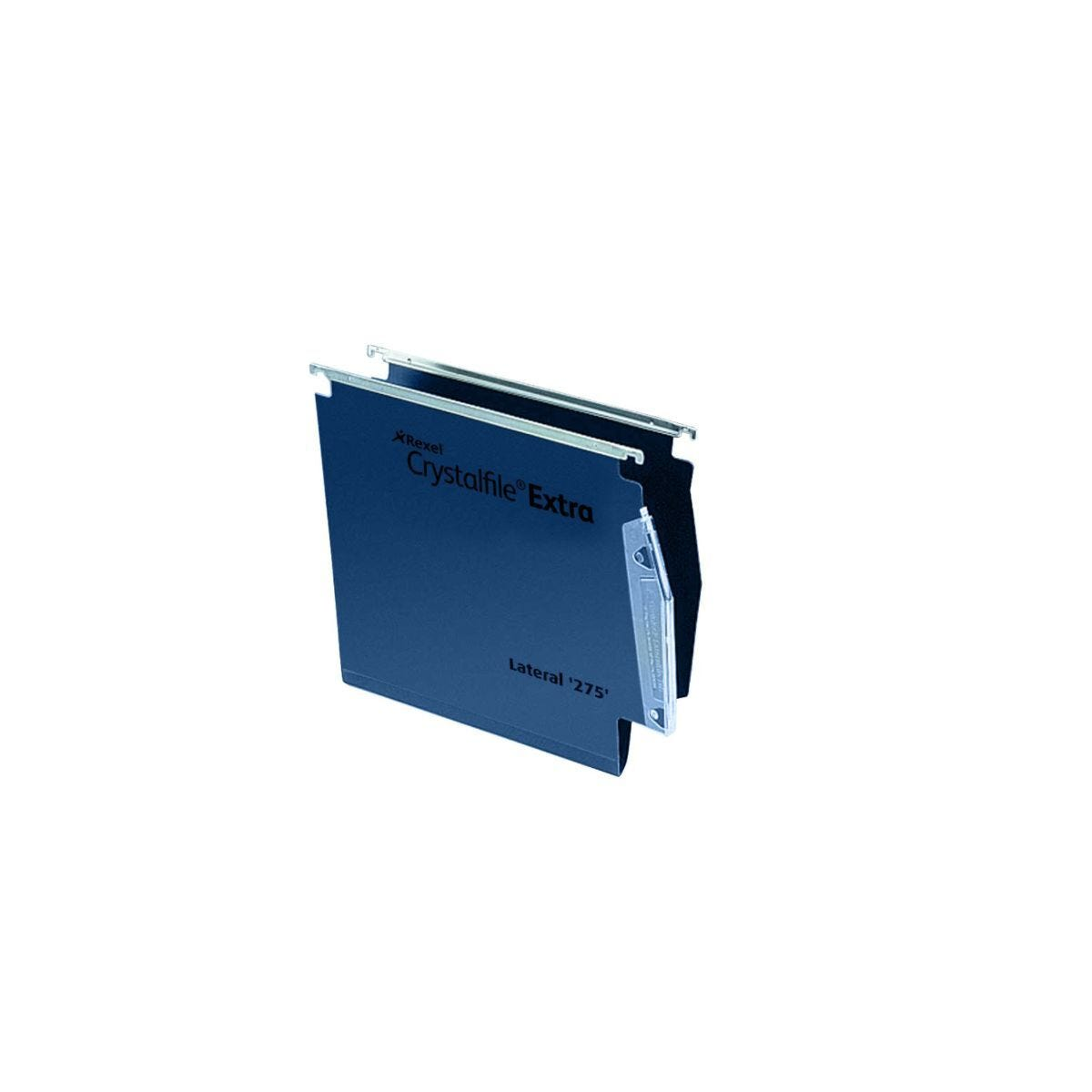 Rexel Crystalfile Extra 275 Lateral Suspension File 15mm Pack of 25 Blue