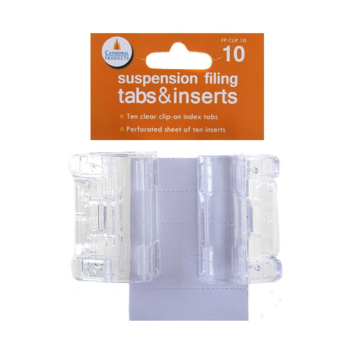 Cathedral Suspension Filing Tabs and Inserts Pack of 10