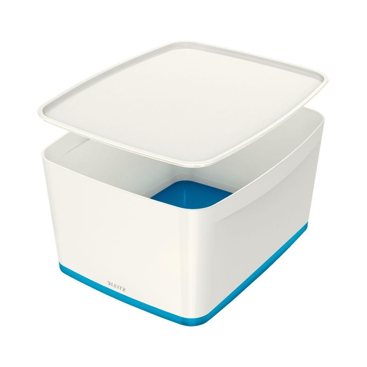 Leitz MyBox Large Storage Box With Lid Blue