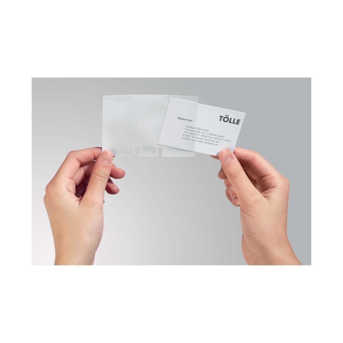 Visifix Flip Desk Refill Pack of 40 Business Card Pockets
