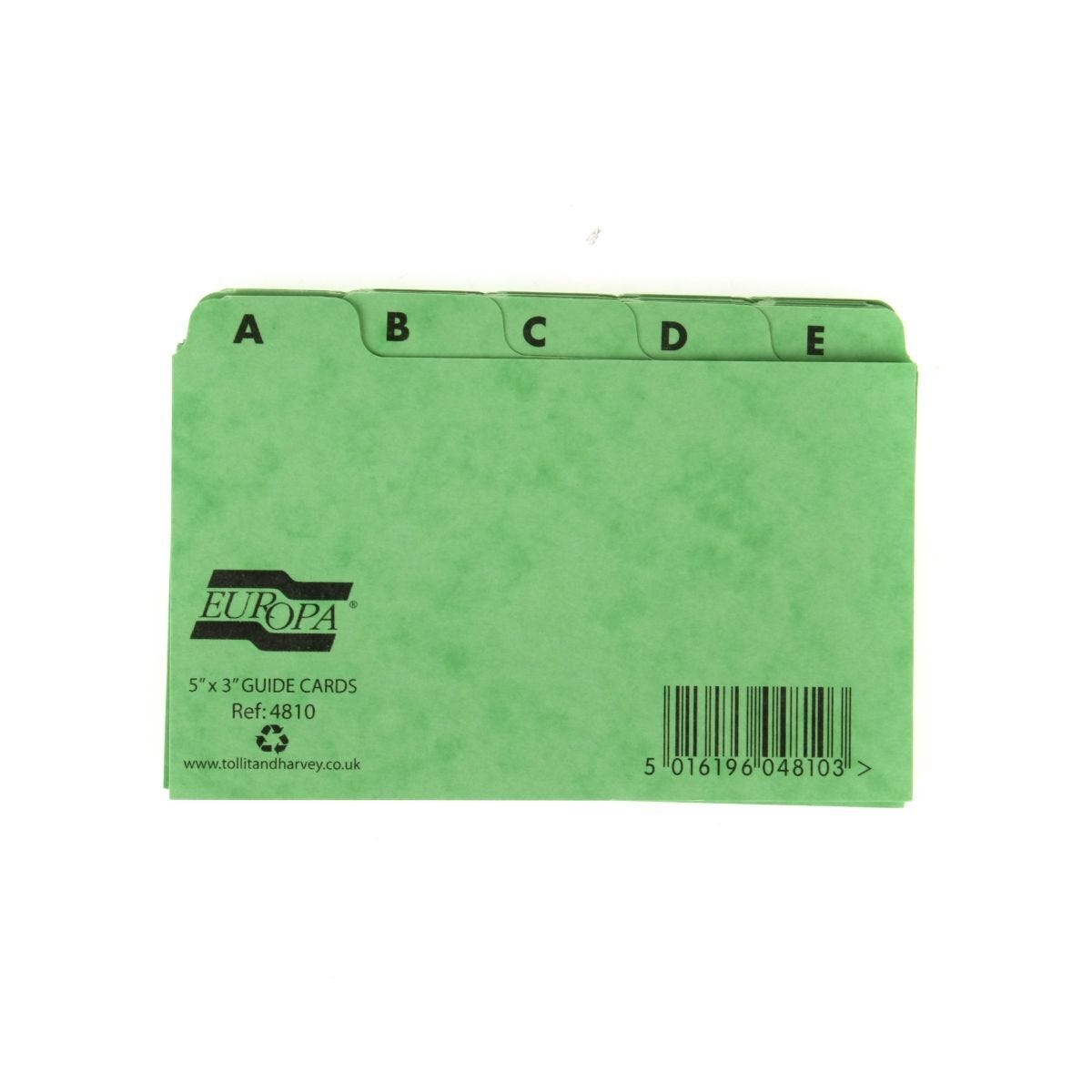 Europa A to Z Index Cards 126x76mm