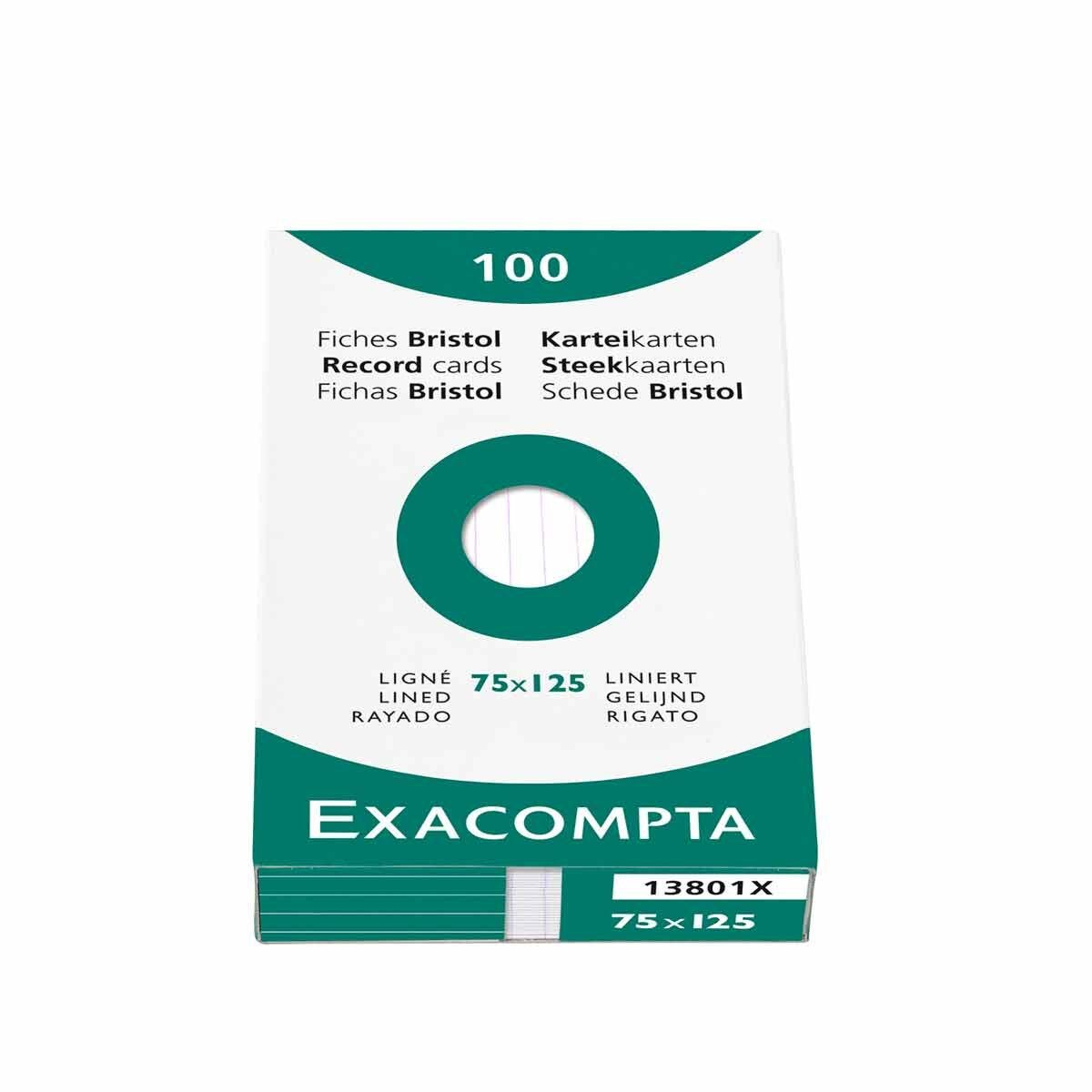 Exacompta Record Cards 7.5x12.5cm Lined Pack of 100