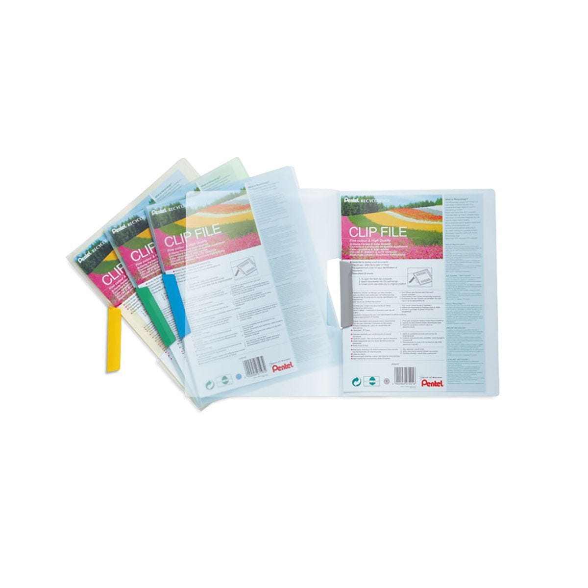 Pentel Clip File A4 Pack of 5