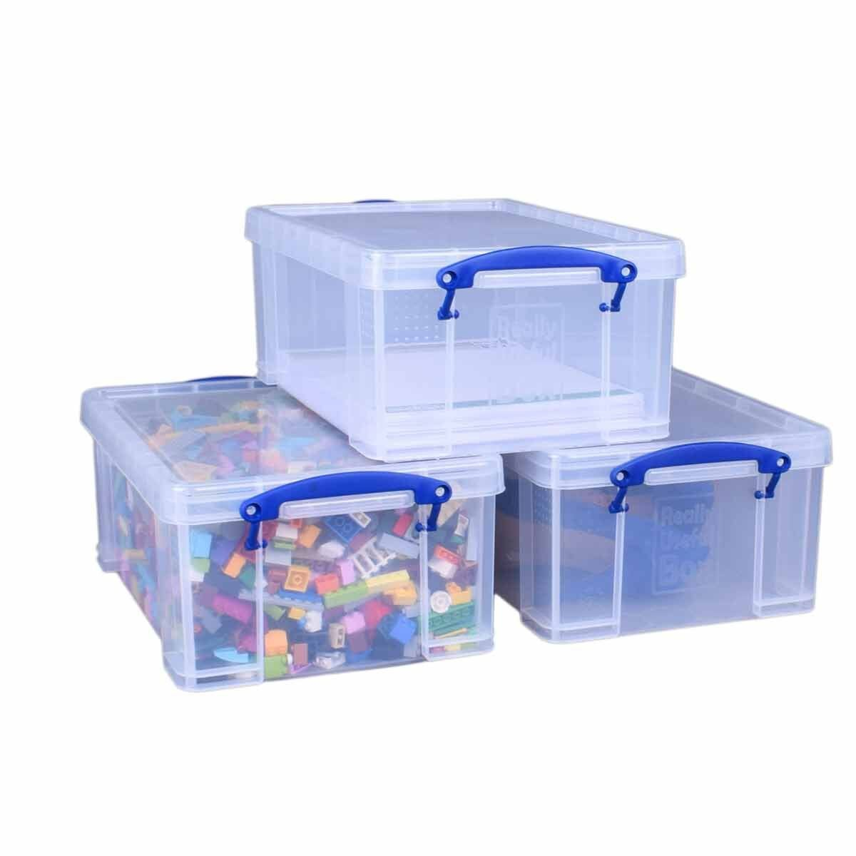 Really Useful Box 9 Litre Clear Pack of 3