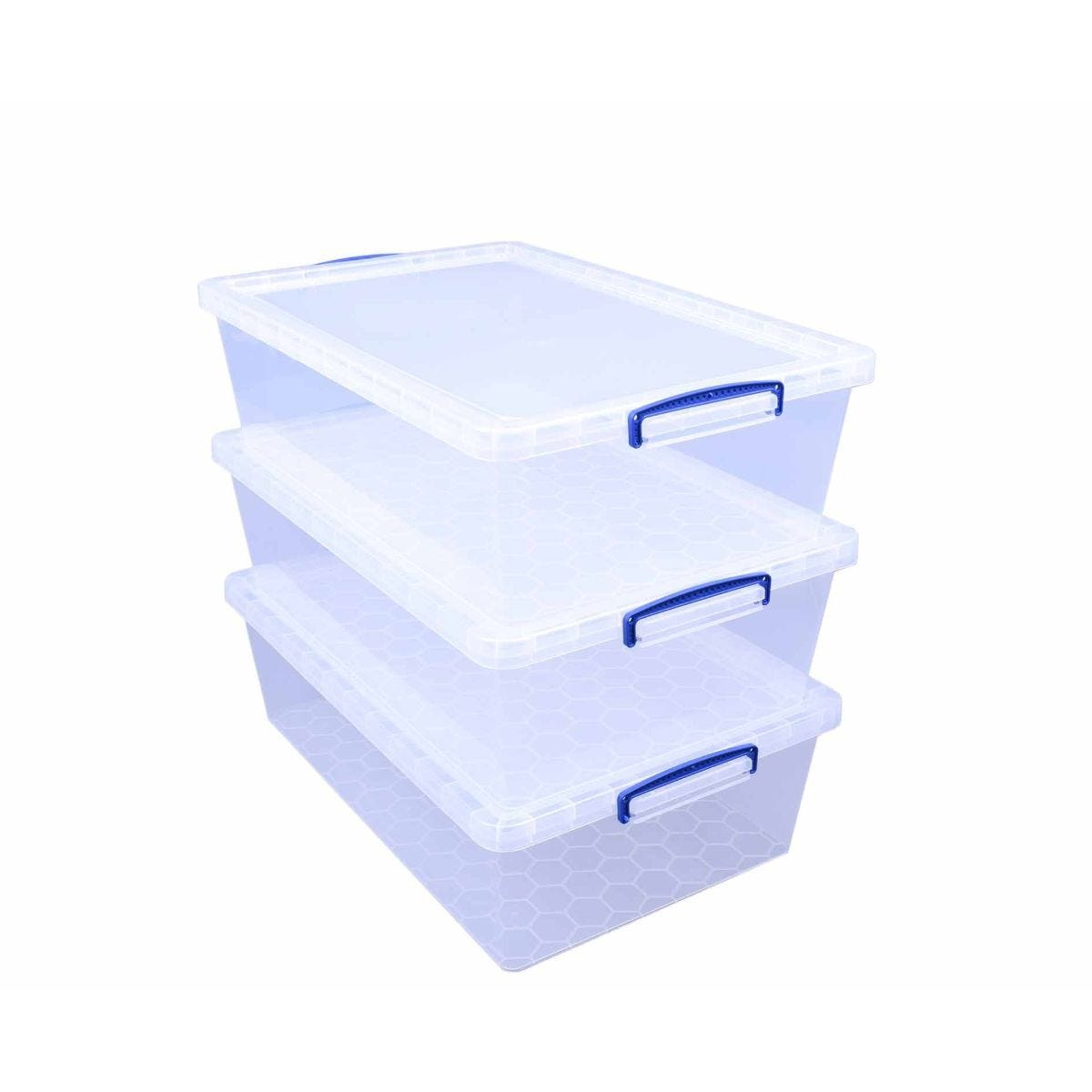 Really Useful Nestable Storage Box 43 Litre Pack of 3
