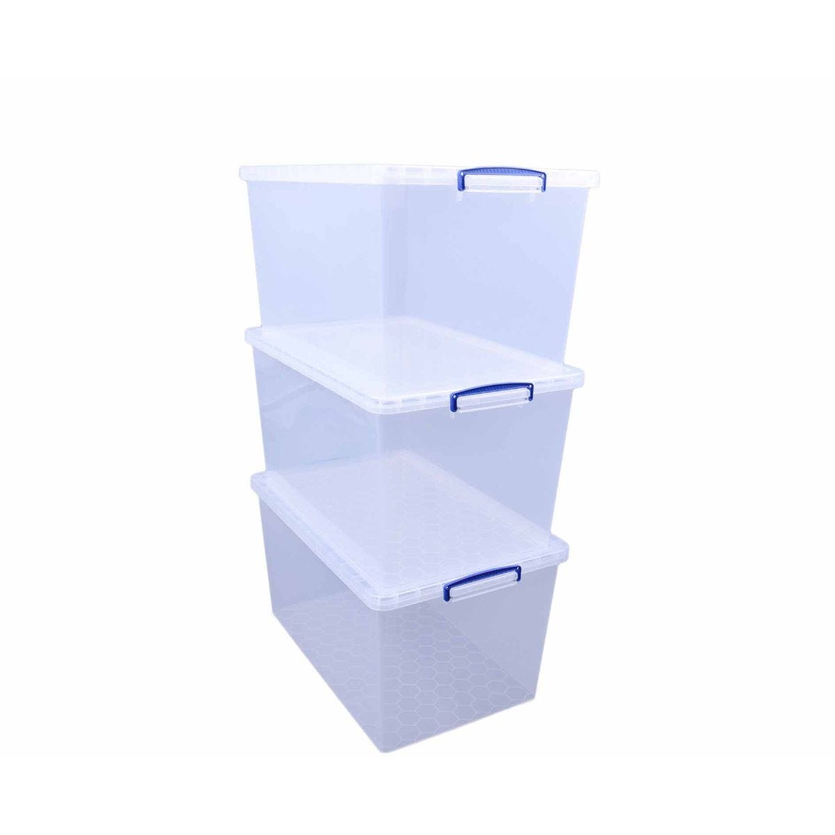 Really Useful Nestable Storage Box 83 Litre Pack of 3