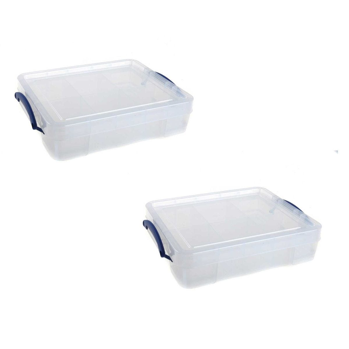 Really Useful Storage Box 11 Litre Plus Tray Pack of 2