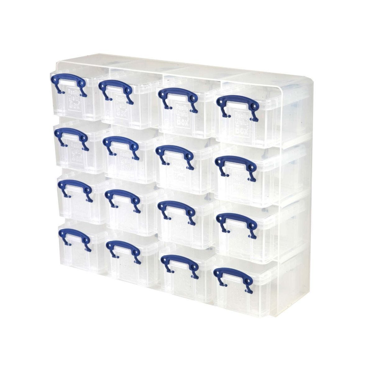 Really Useful Box Storage Organiser 0.3 Litre Pack of 16