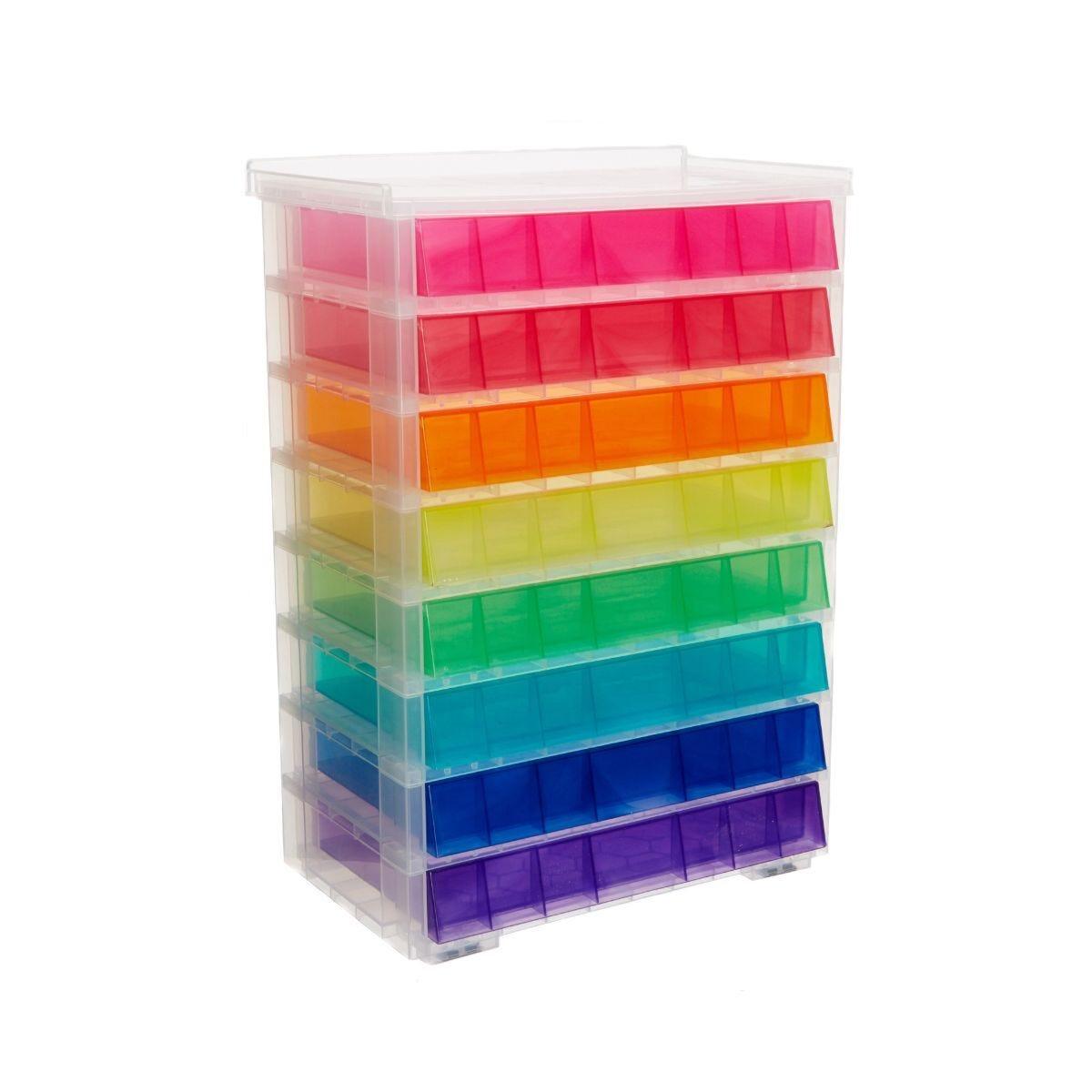 Really Useful Storage Drawer Unit 8 x 0.9 Litre Rainbow