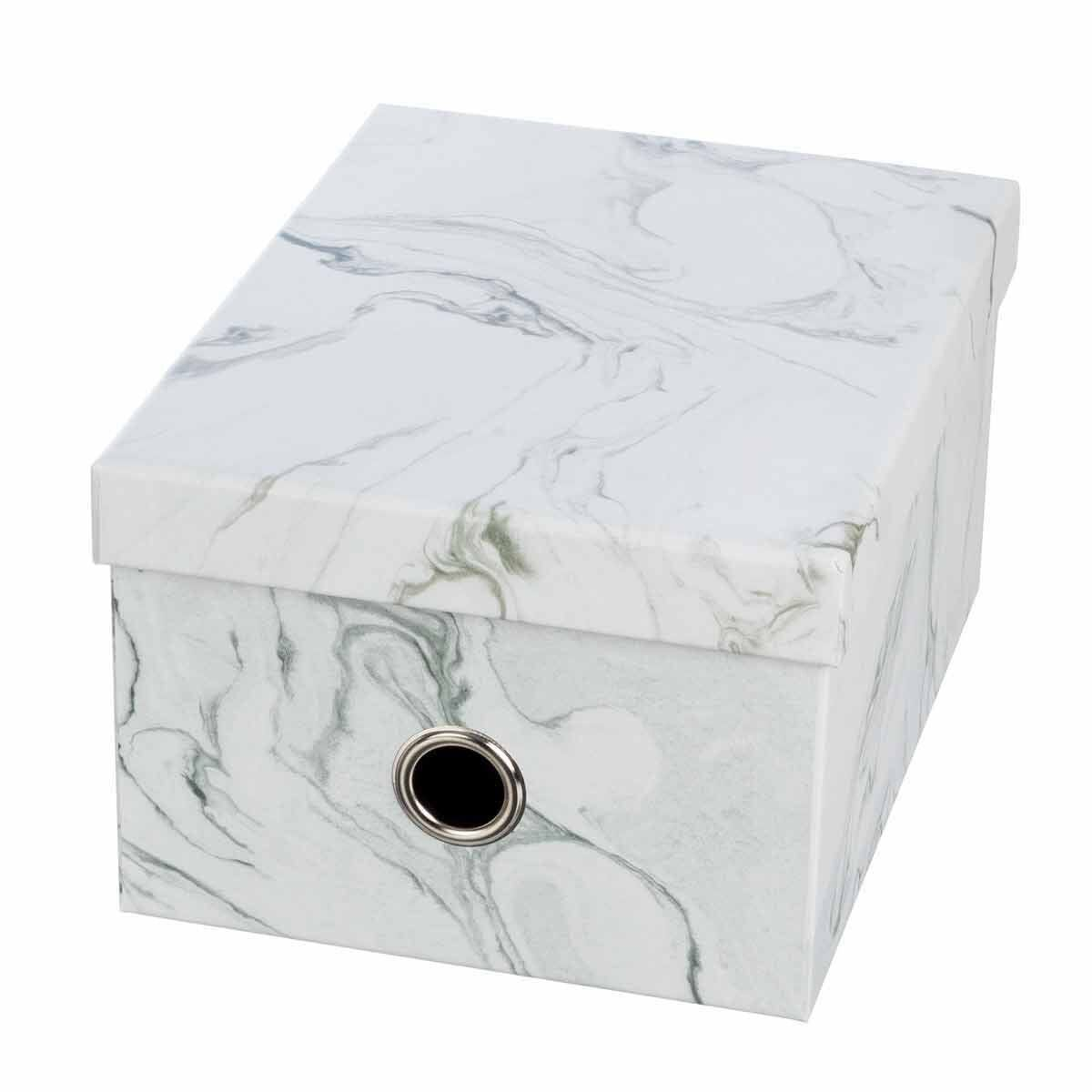 Ryman Storage Box Medium Marble Grey