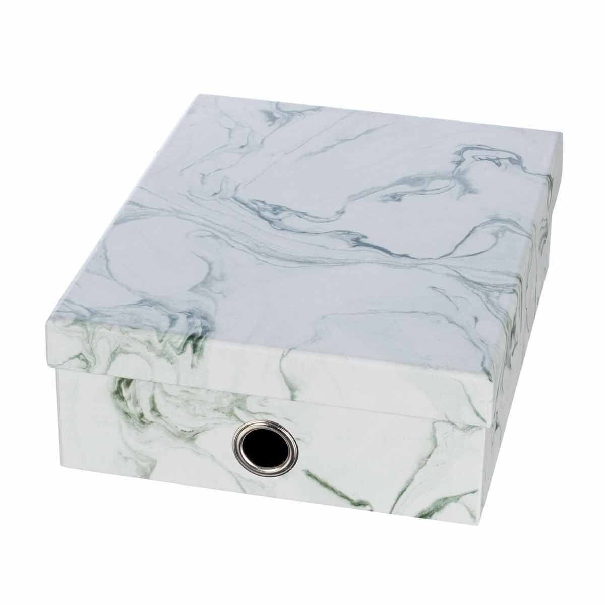 Ryman Storage Box Large Marble Grey