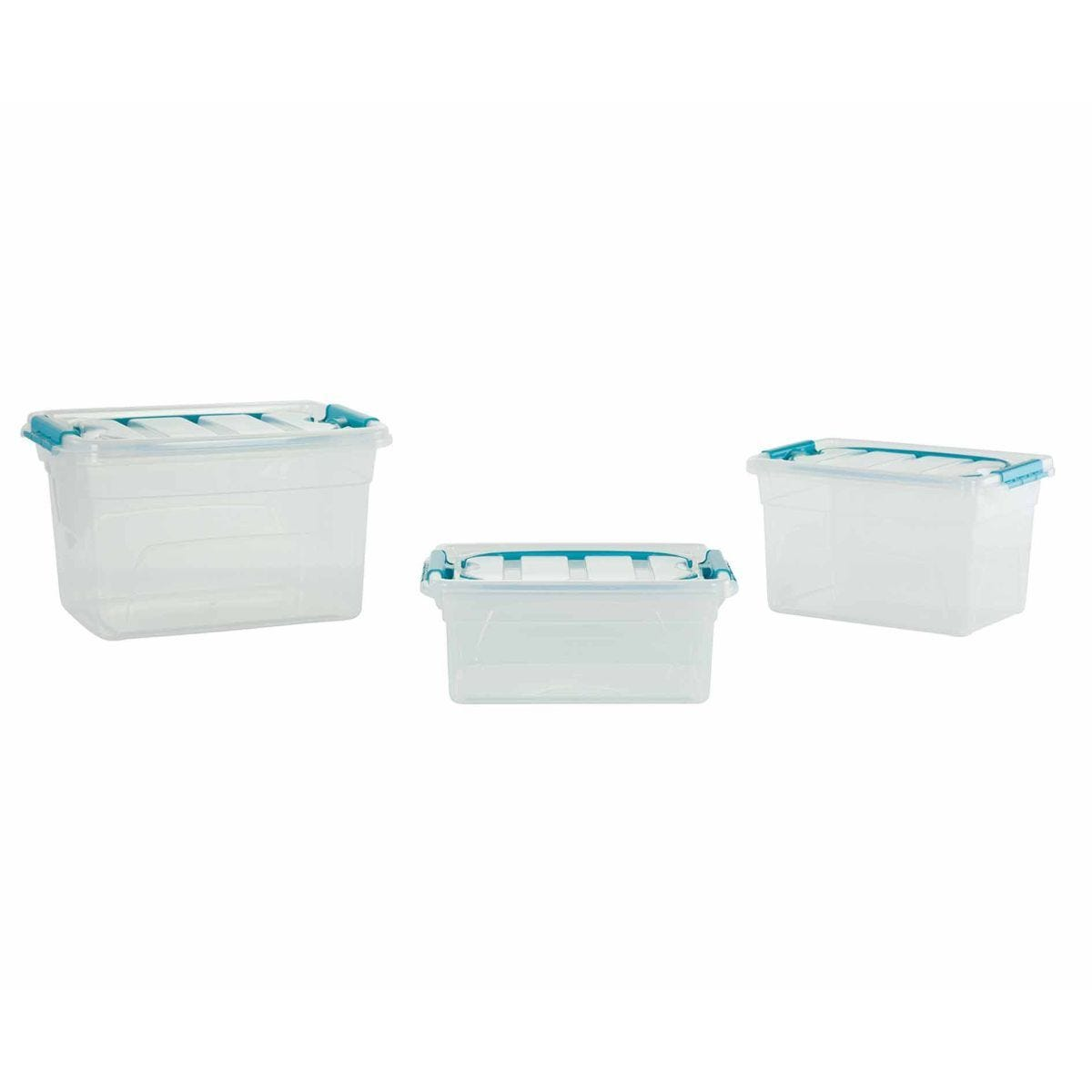 Whitefurze Carry Box with Handles Pack of 3 5L / 7L / 13L