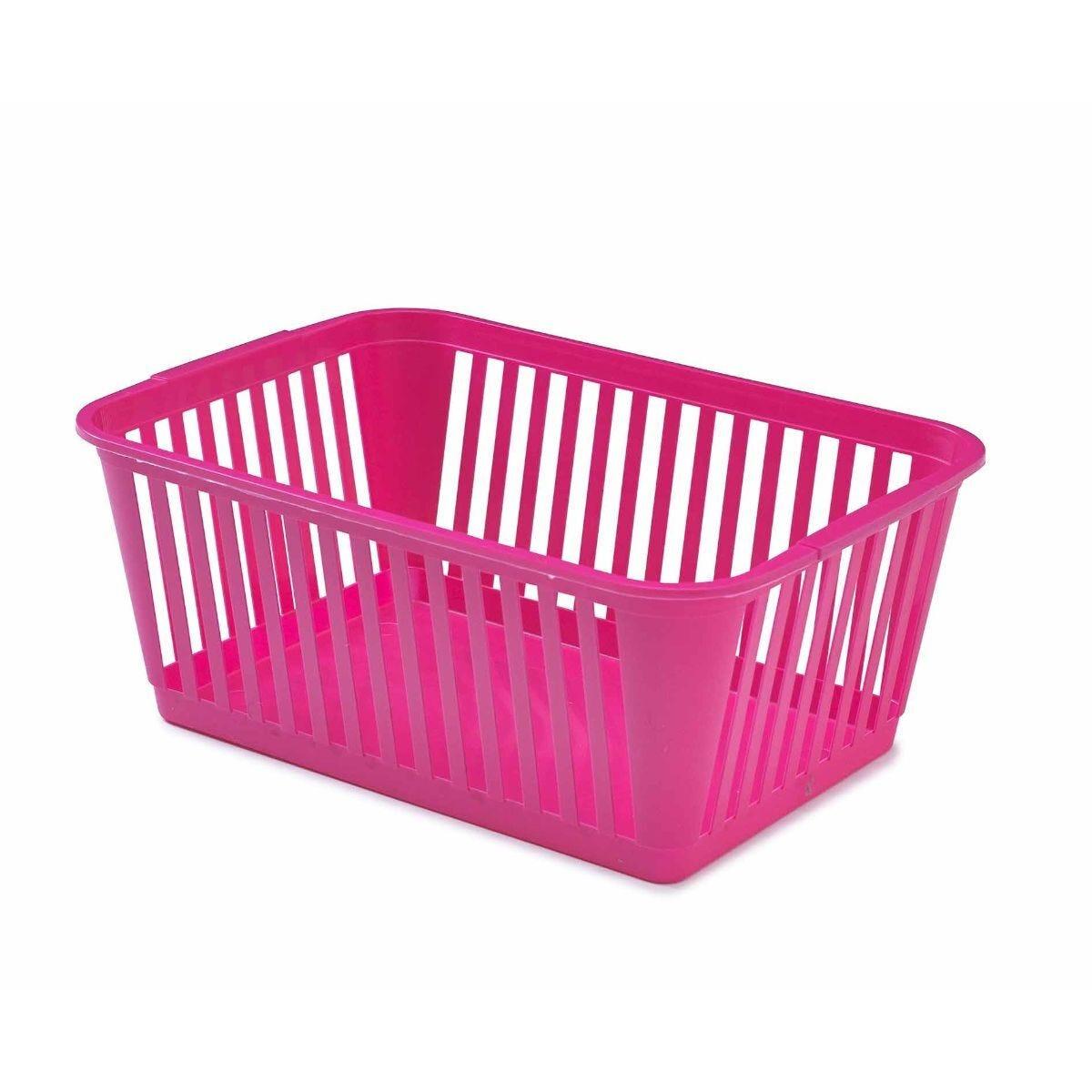 Whitefurze Handy Basket 37cm Pack of 3 Pink