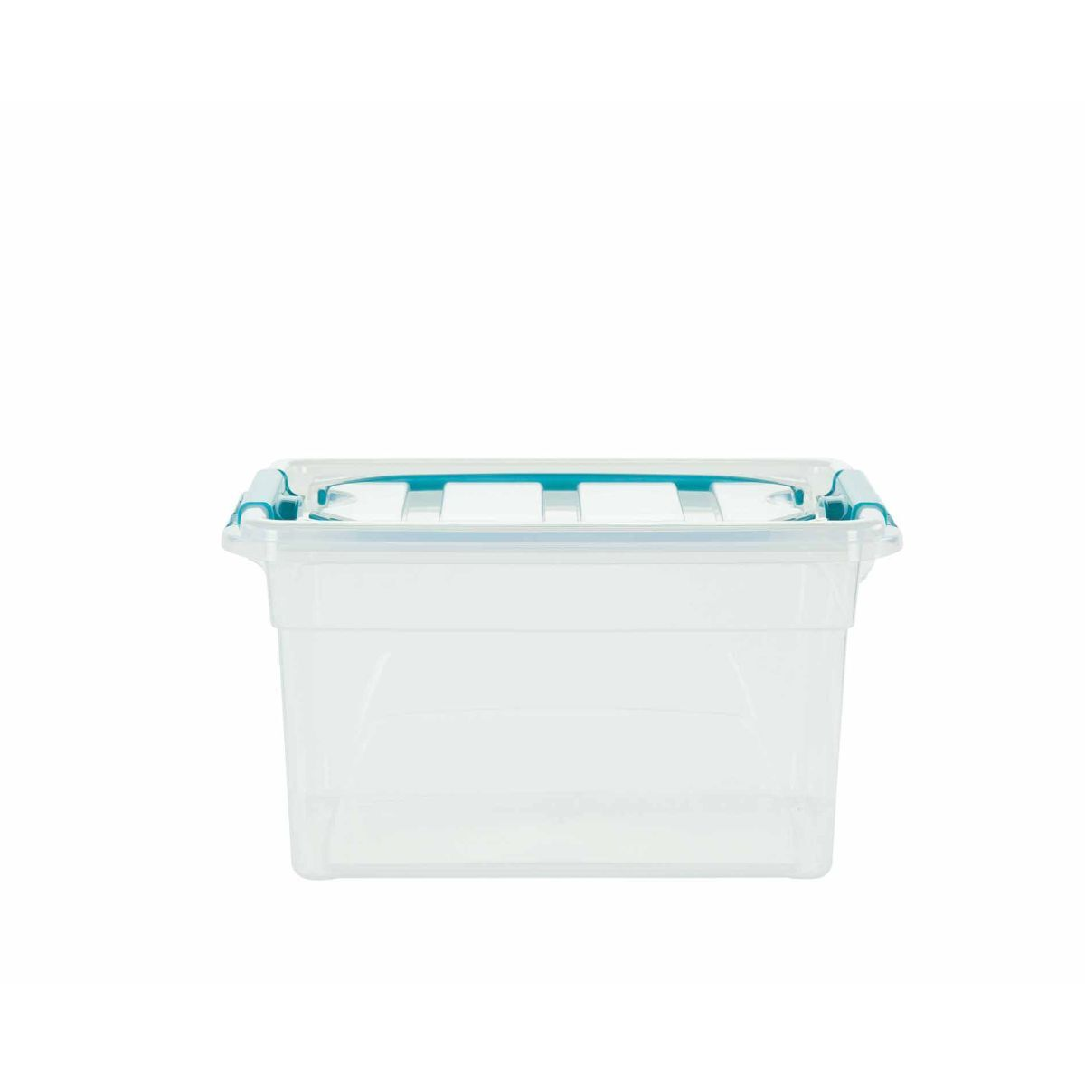 Whitefurze Carry Box with Handles 7 Litre Clear
