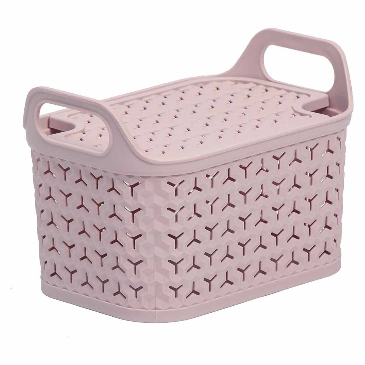 Strata Urban Store Basket with Lid 8 Litre Blush