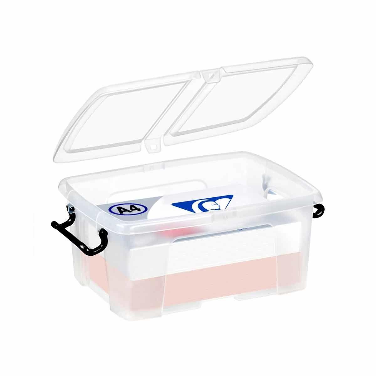 Strata Smart Plastic Storage Box with Folding Lid 12 Litre