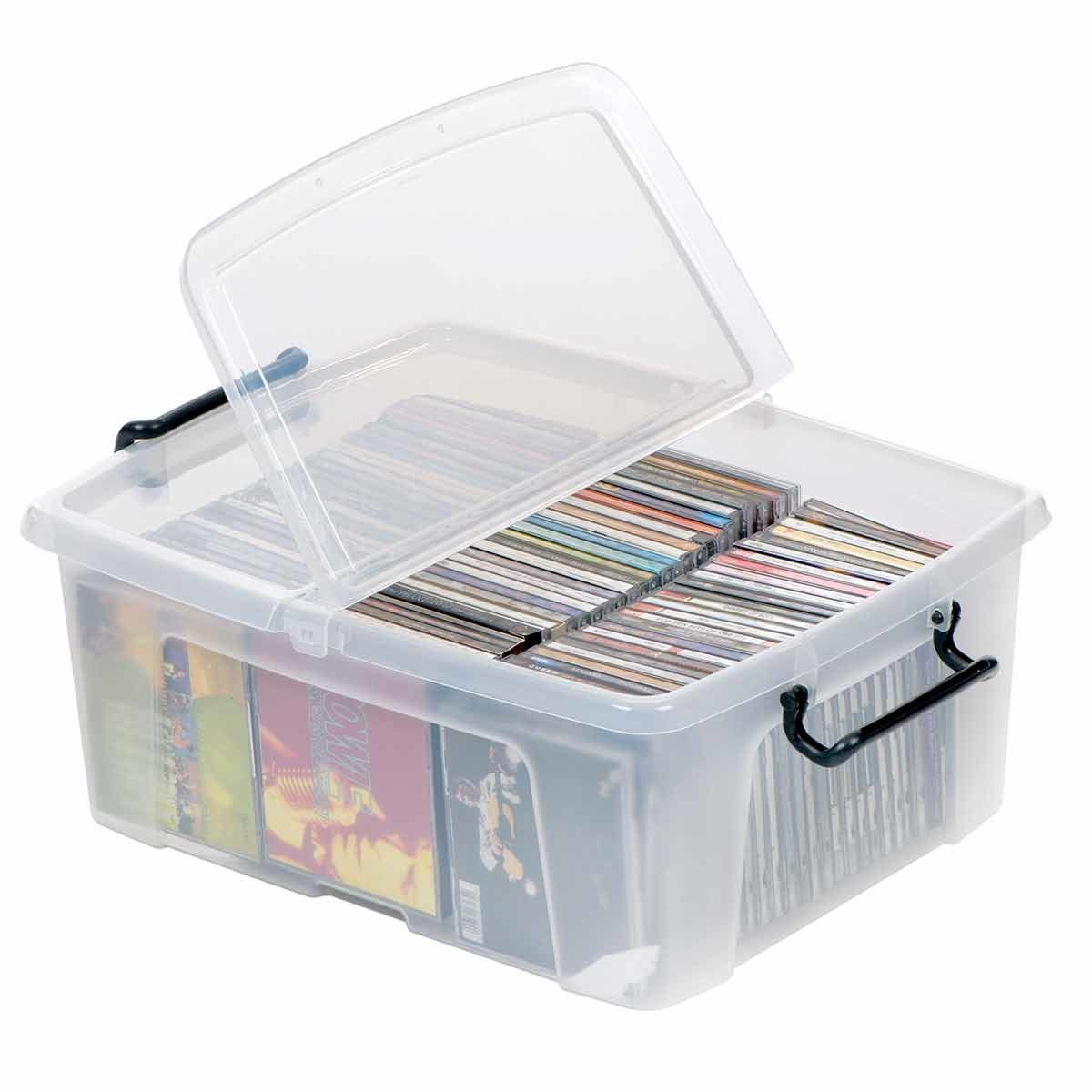 Strata Smart Plastic Storage Box with Folding Lid 24 Litre