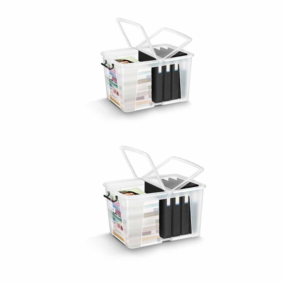 Strata Smart Plastic Storage Box 65 Litre Pack of 2