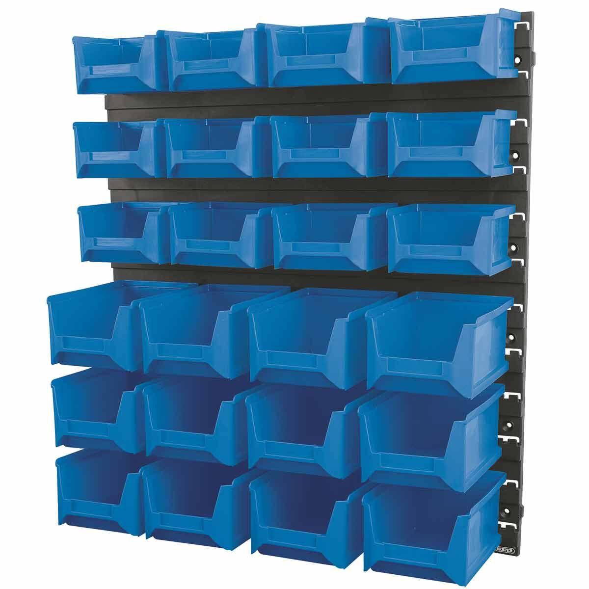Draper 24 Small and Medium Bin Wall Storage Unit