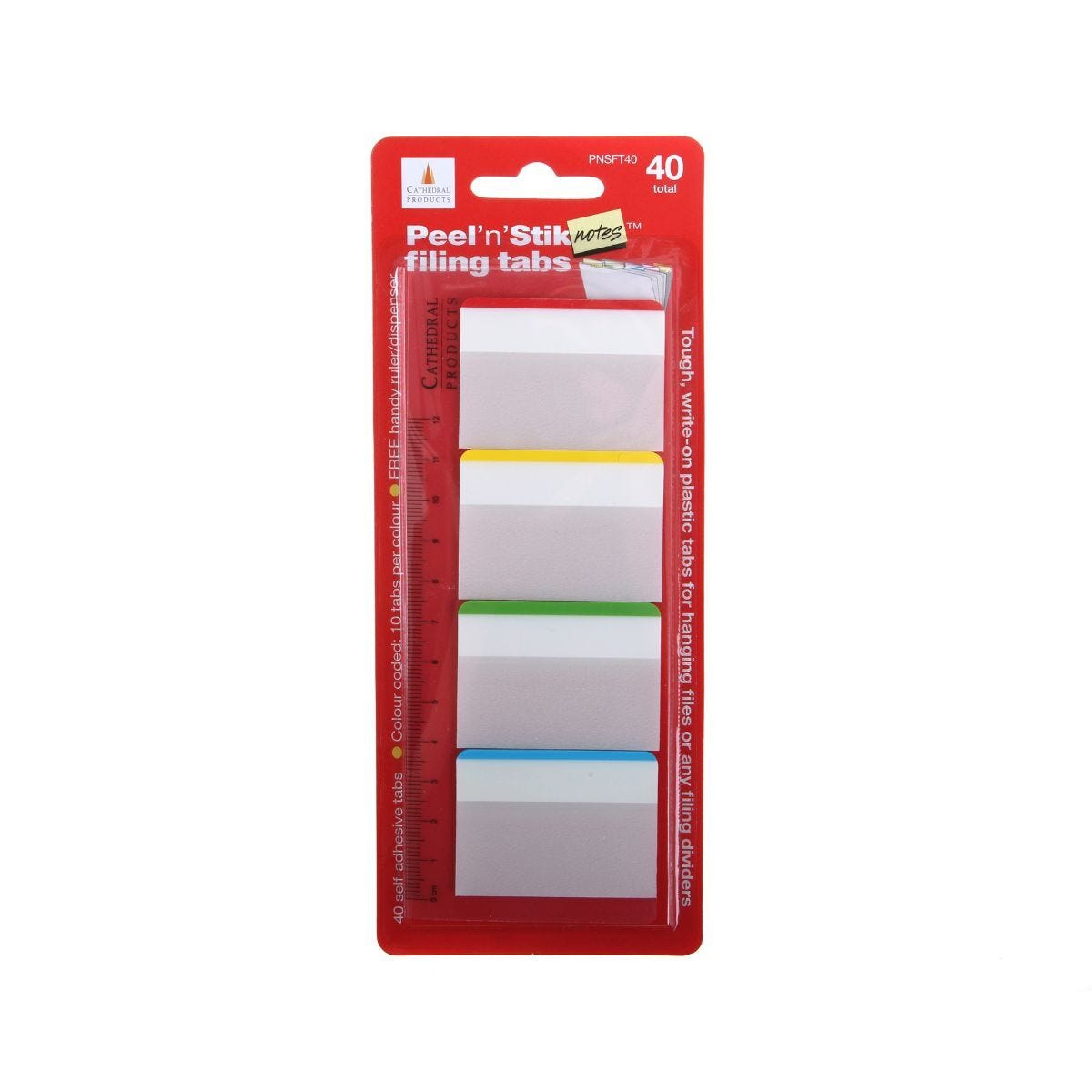 Filing Tabs Self Adhesive Pack of 40