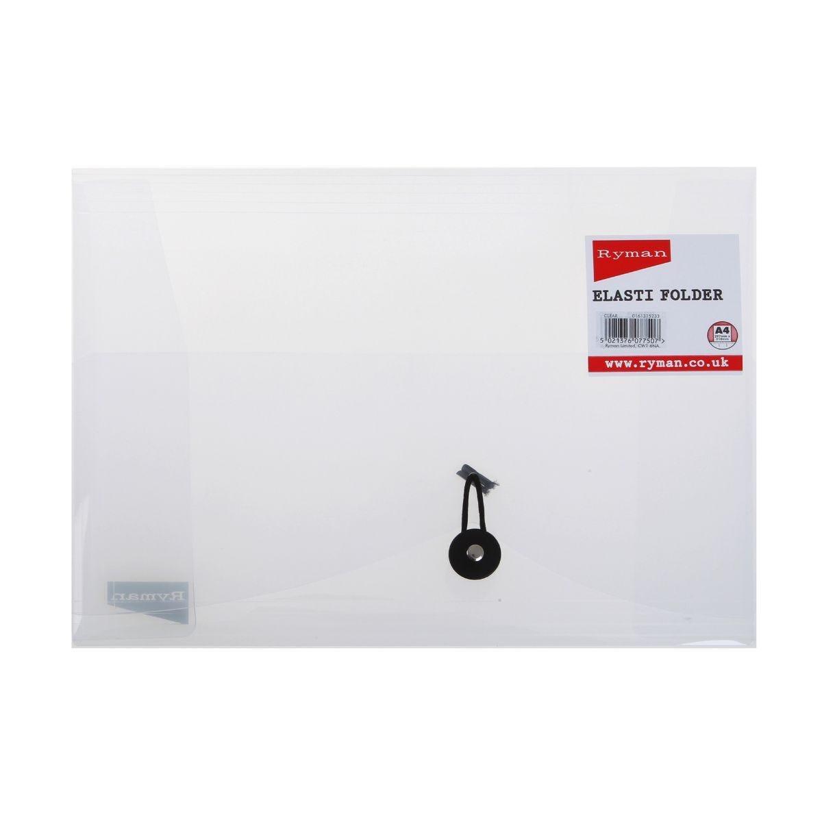 Ryman Elasti Folder A4 Clear