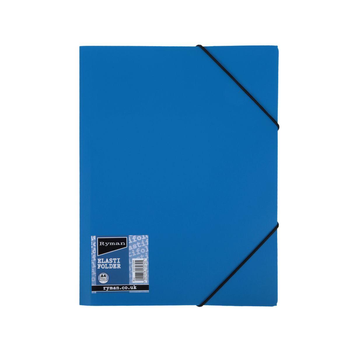 Ryman Elasti Folder A4 Blue