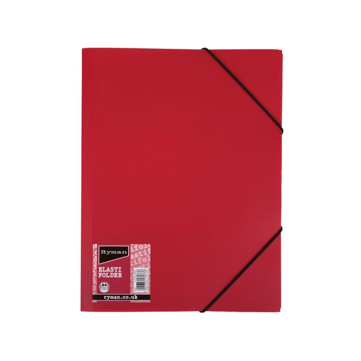 Ryman Elasti Folder A4 Red