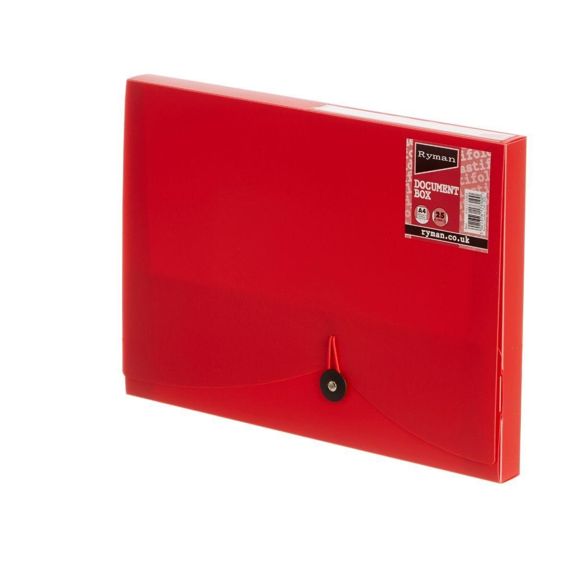 Ryman Document Box 25mm Red