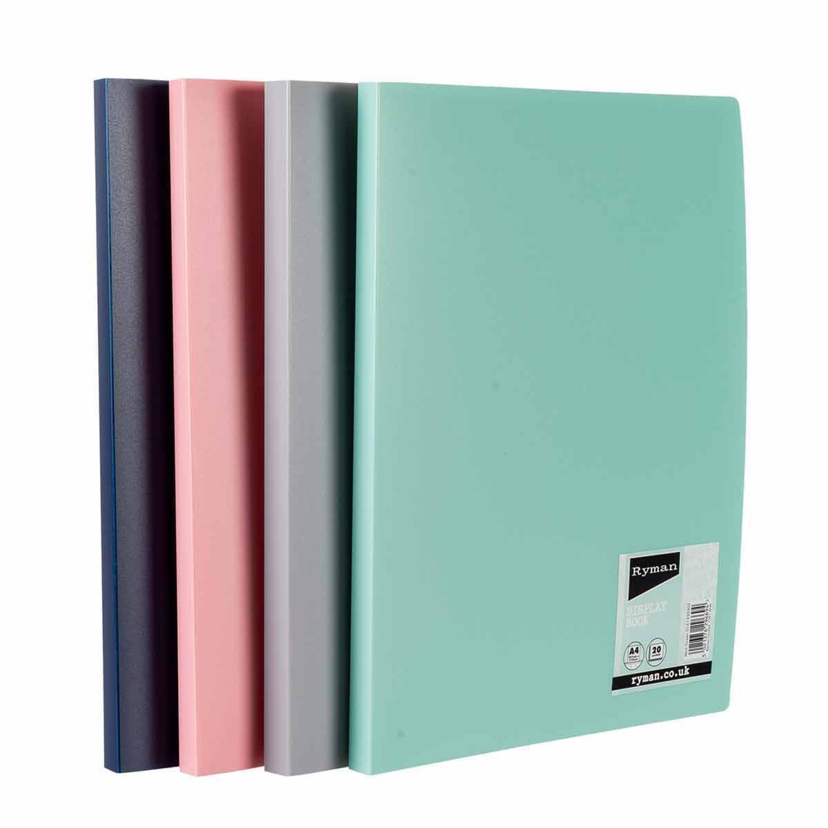 Ryman Pastel Display Book A4 Pack of 8 Assorted