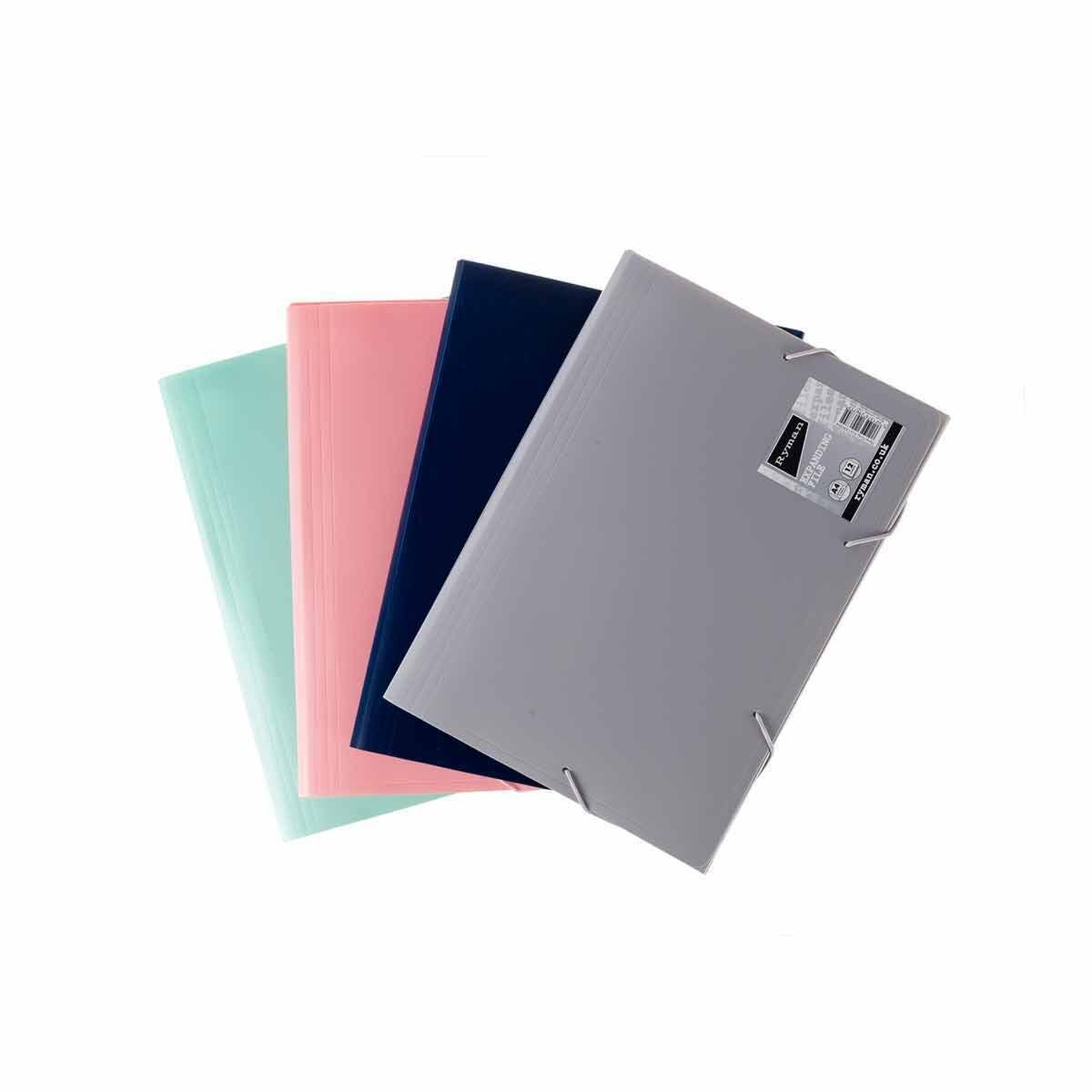 Ryman Pastel Expanding File A4 Pack of 8 Assorted