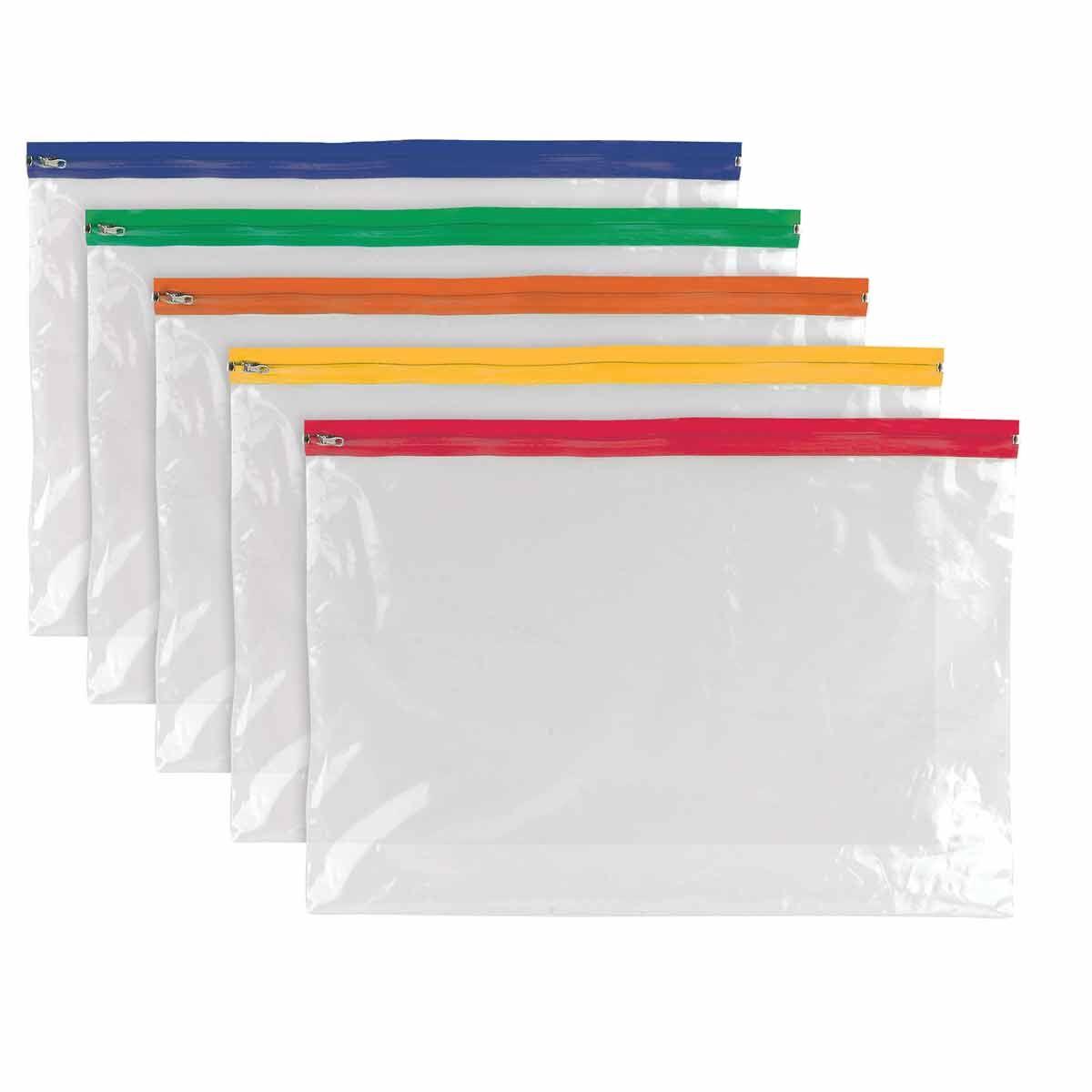Tiger A3 Polythene Zip Bag Assorted Pack 25