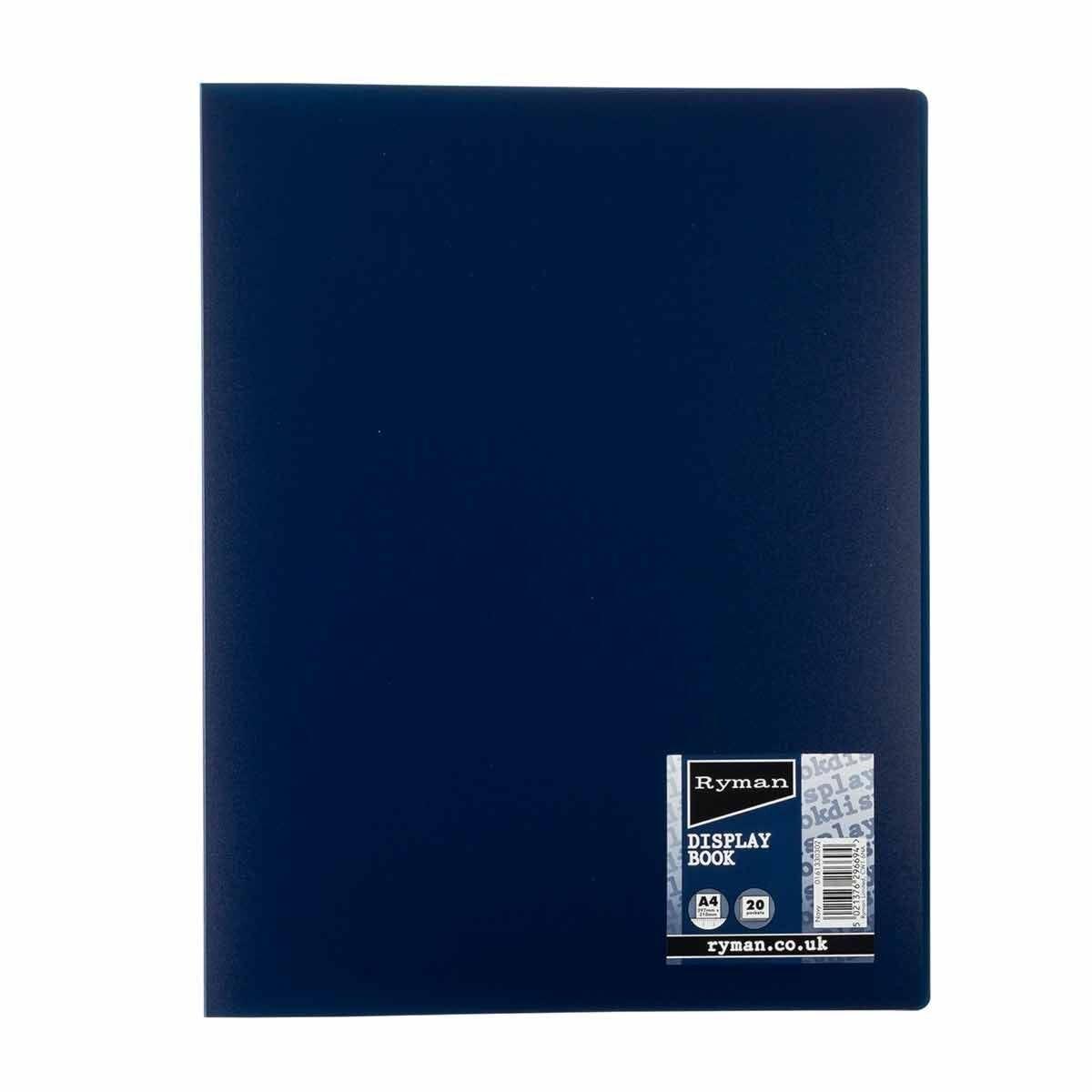 Ryman Pastel Display Book A4 Navy