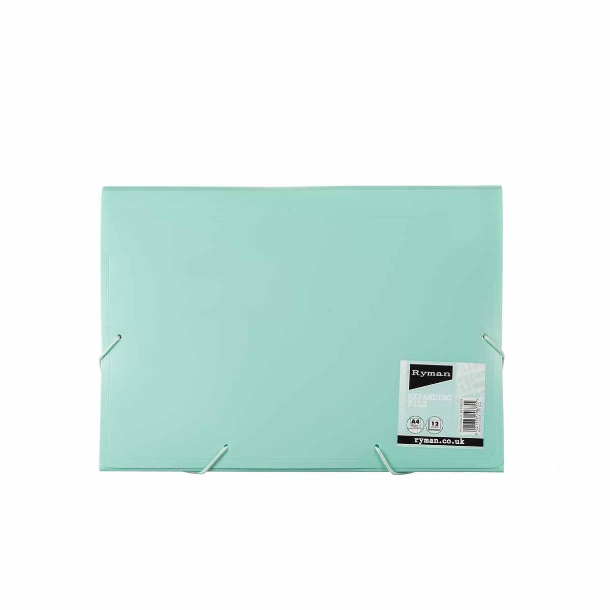 Ryman Pastel Expanding File A4 Mint