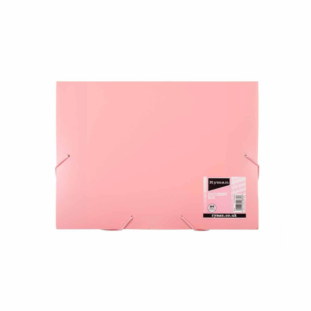 Ryman Pastel Document Box A4 Rose