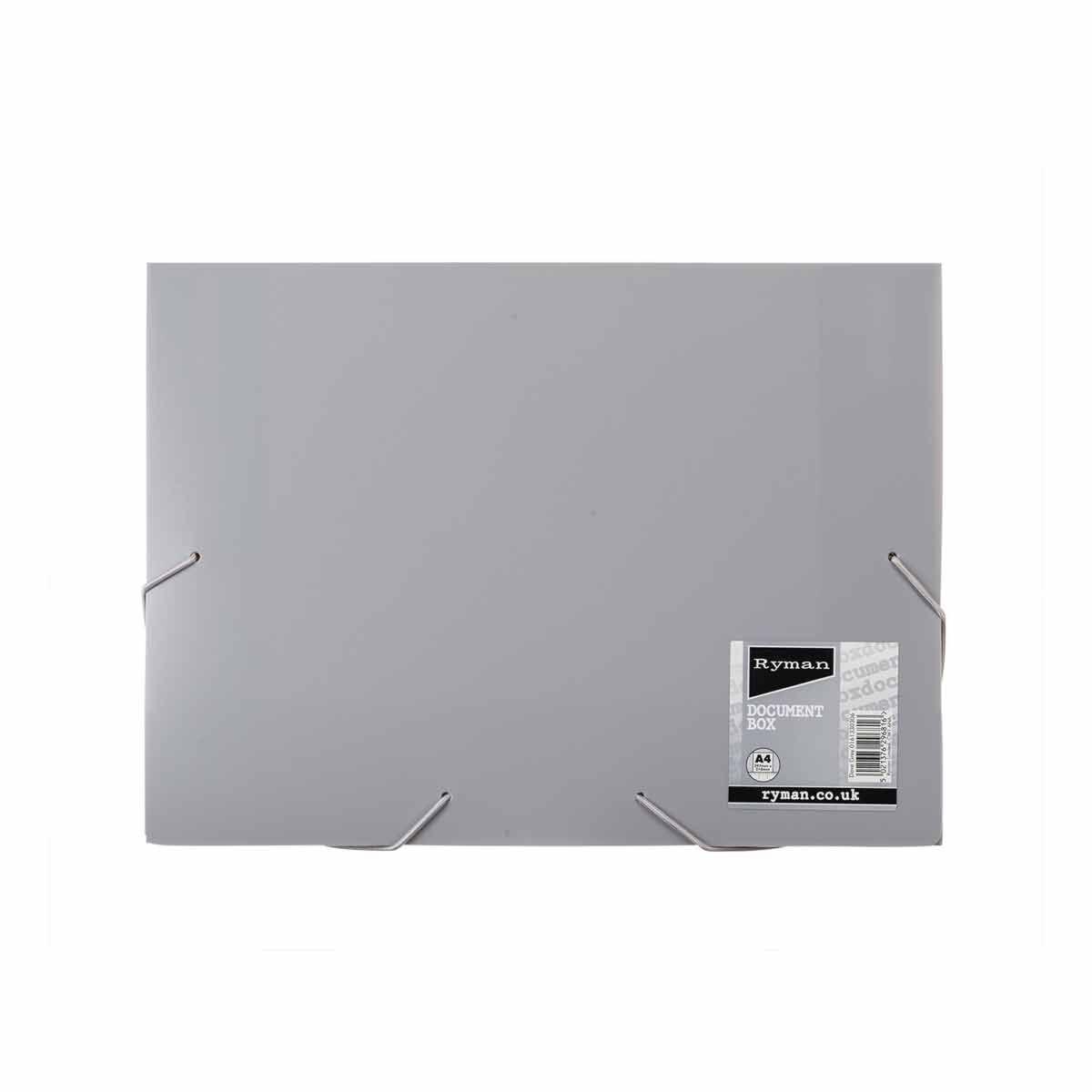 Ryman Pastel Document Box A4 Dove Grey