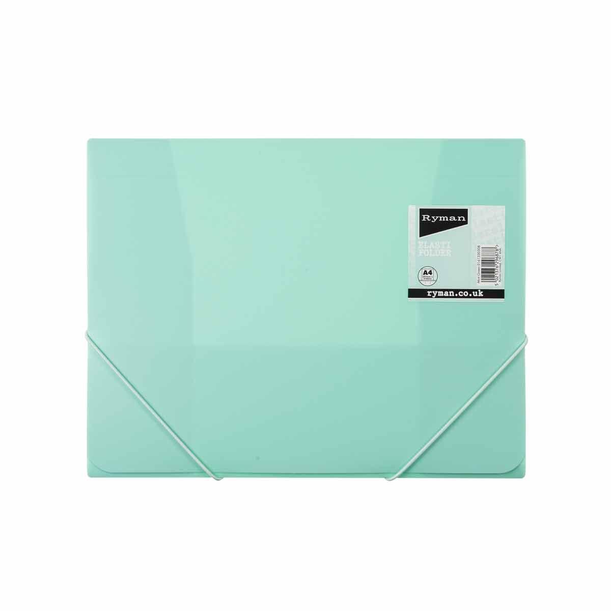 Ryman Pastel Elasti Folder A4 Mint
