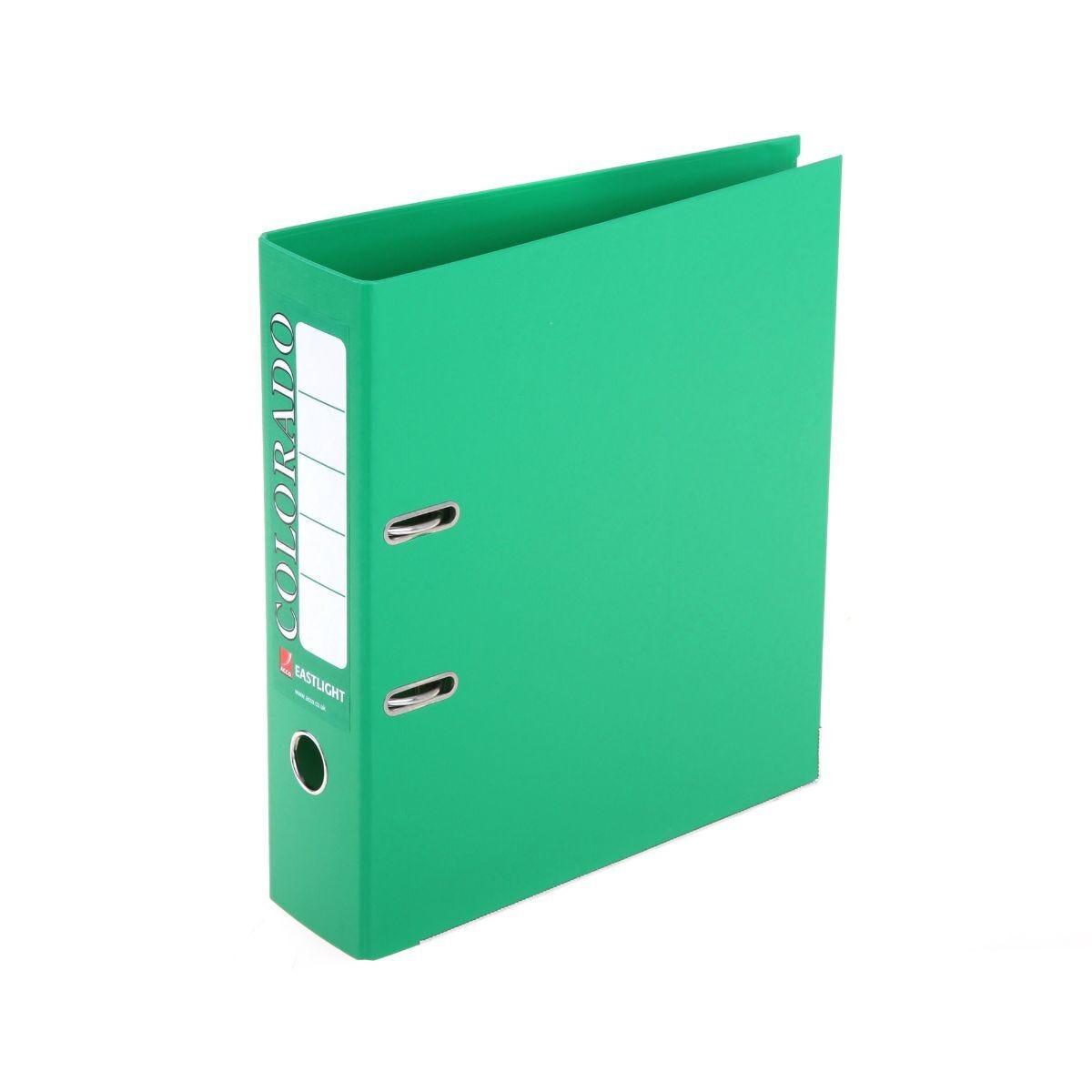 Colorado Lever Arch Spine File A4 Green