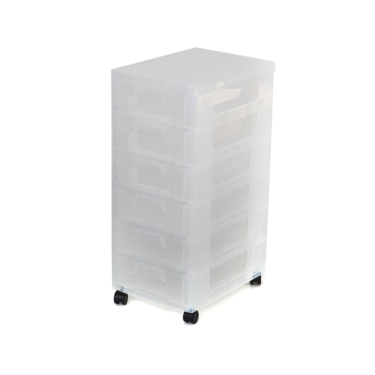 Really Useful Storage Unit 6 x 7 Litre Drawer Clear/Clear