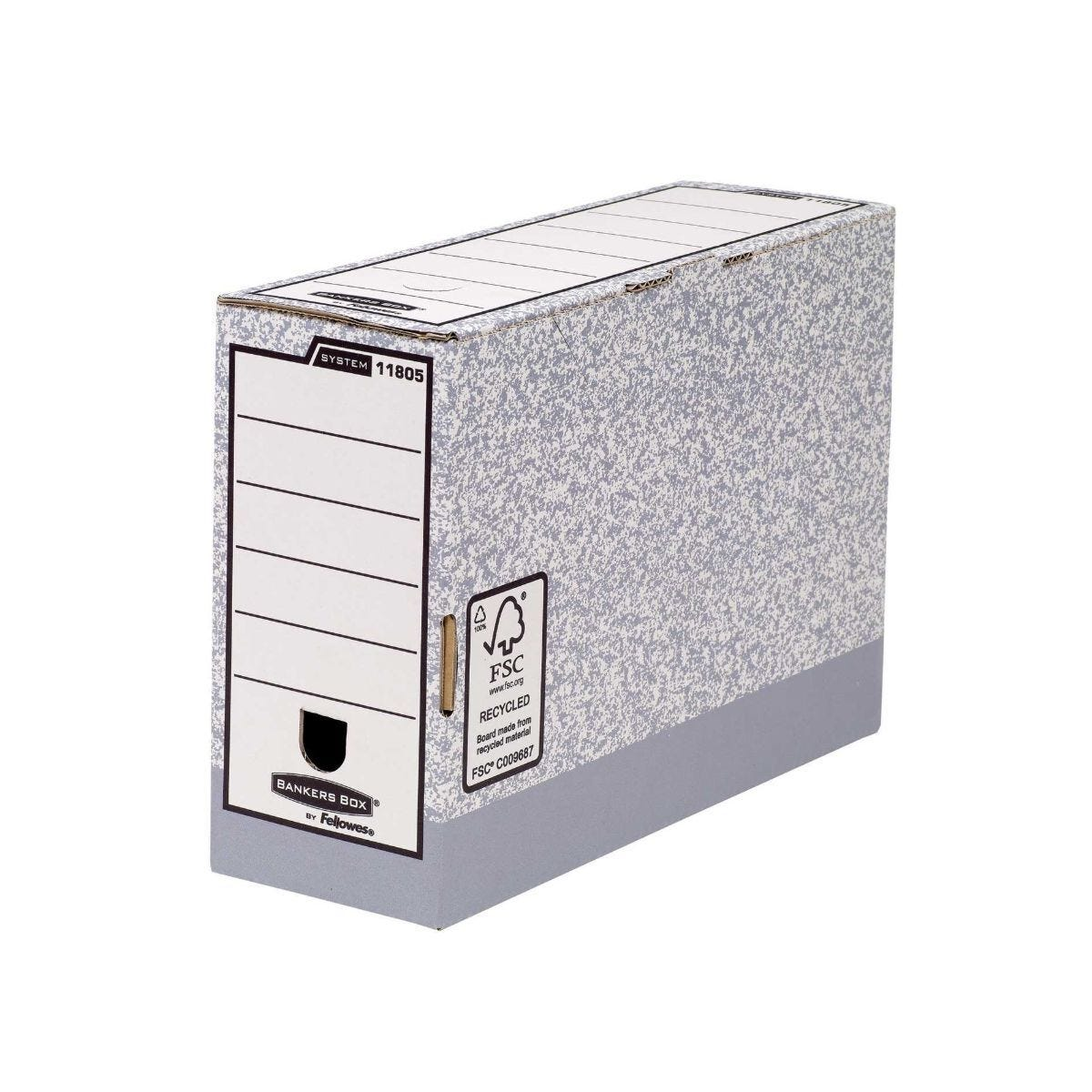 Bankers Box by Fellowes System A4 Transfer Files  with Fastfold 100mm