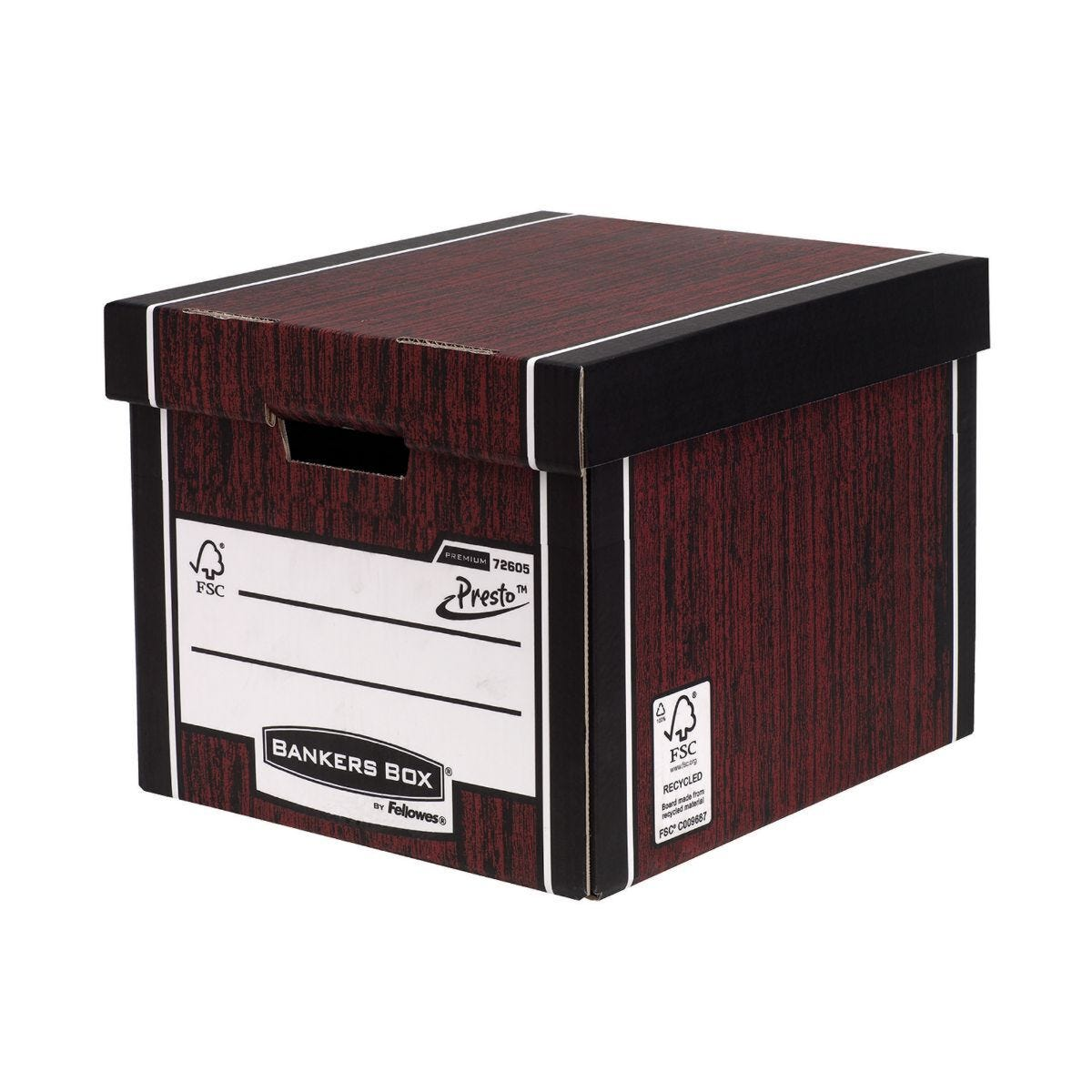 Bankers Box by Fellowes Premium 725 Classic Storage Boxes with PRESTO