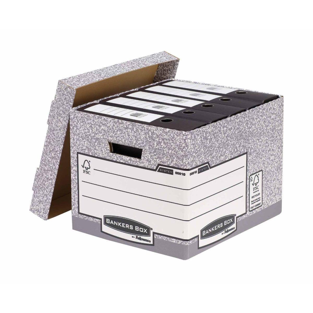 Fellowes Bankers Box Cardboard Storage Box Medium-Duty Pack of 10